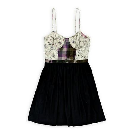 Rachel Roy Womens Daisy Chain Corset Dress floralnavy 12 (Daisy Chain Dresses)