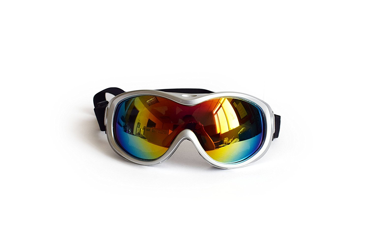 Large Dog Anti-Fog Glasses Snow Skiing Protection Safety Goggles with Removable Starp for Dog Over 15Pounds by
