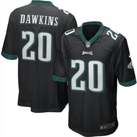 lowest price cf687 b3d55 Mens Philadelphia Eagles Brian Dawkins Nike Black Alternate Game Jersey-3XL