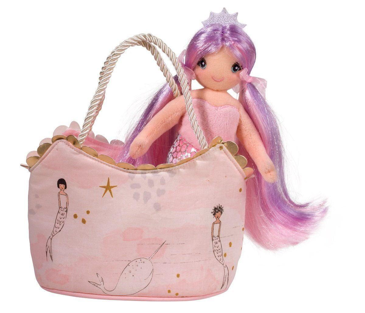 Douglas Sassy Pet Sak Pink Mermaid, By Douglas Toys by