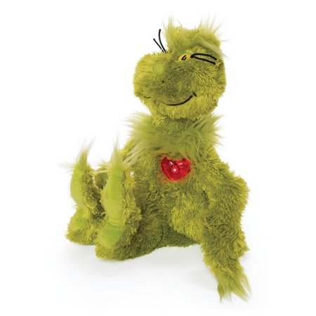 Manhattan Toy Dr. Seuss Grinch With Light Up Heart Plush - Heart Plush