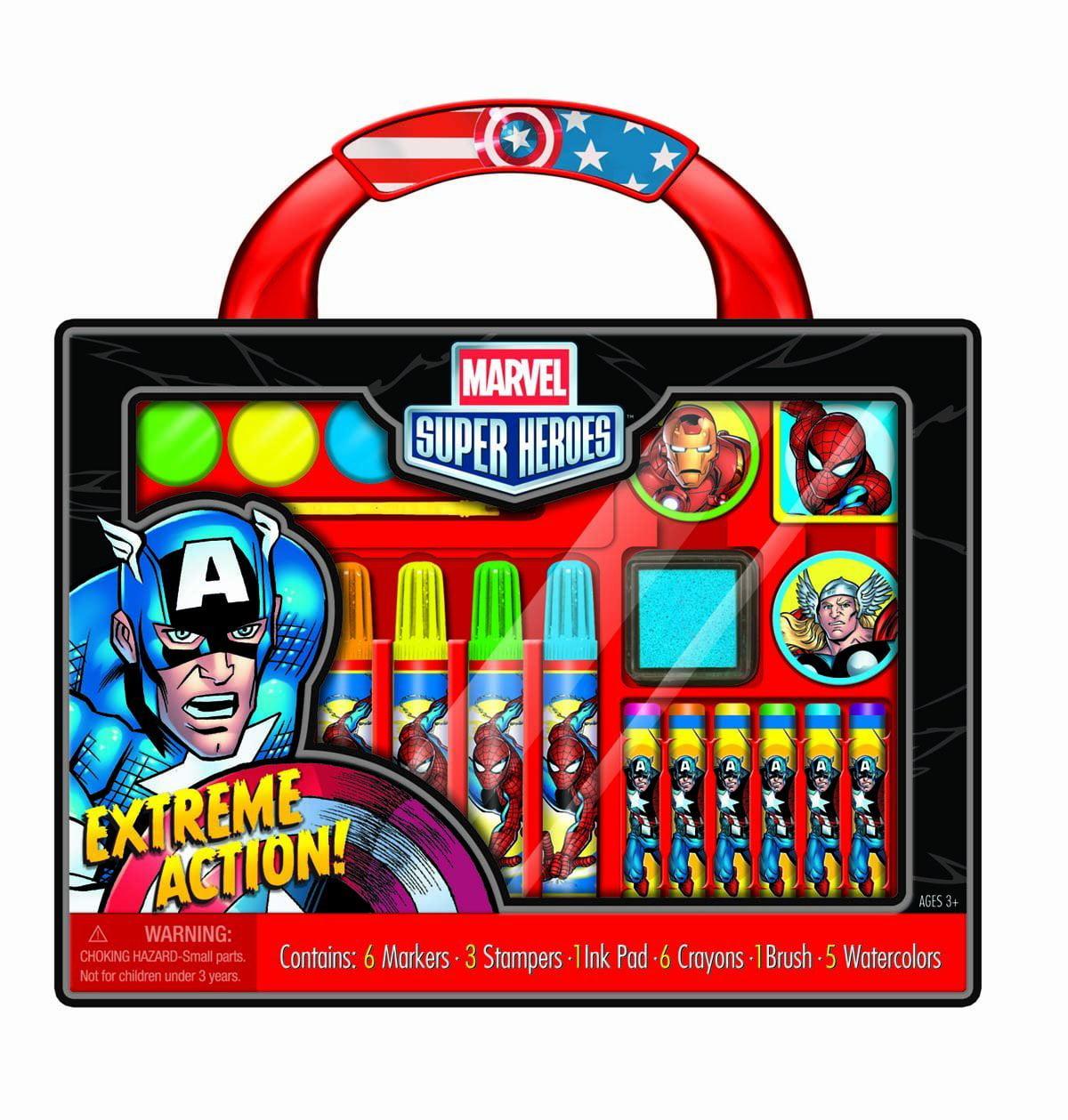 Art Supplies Marvel Super Heroes Take-Along Art Case