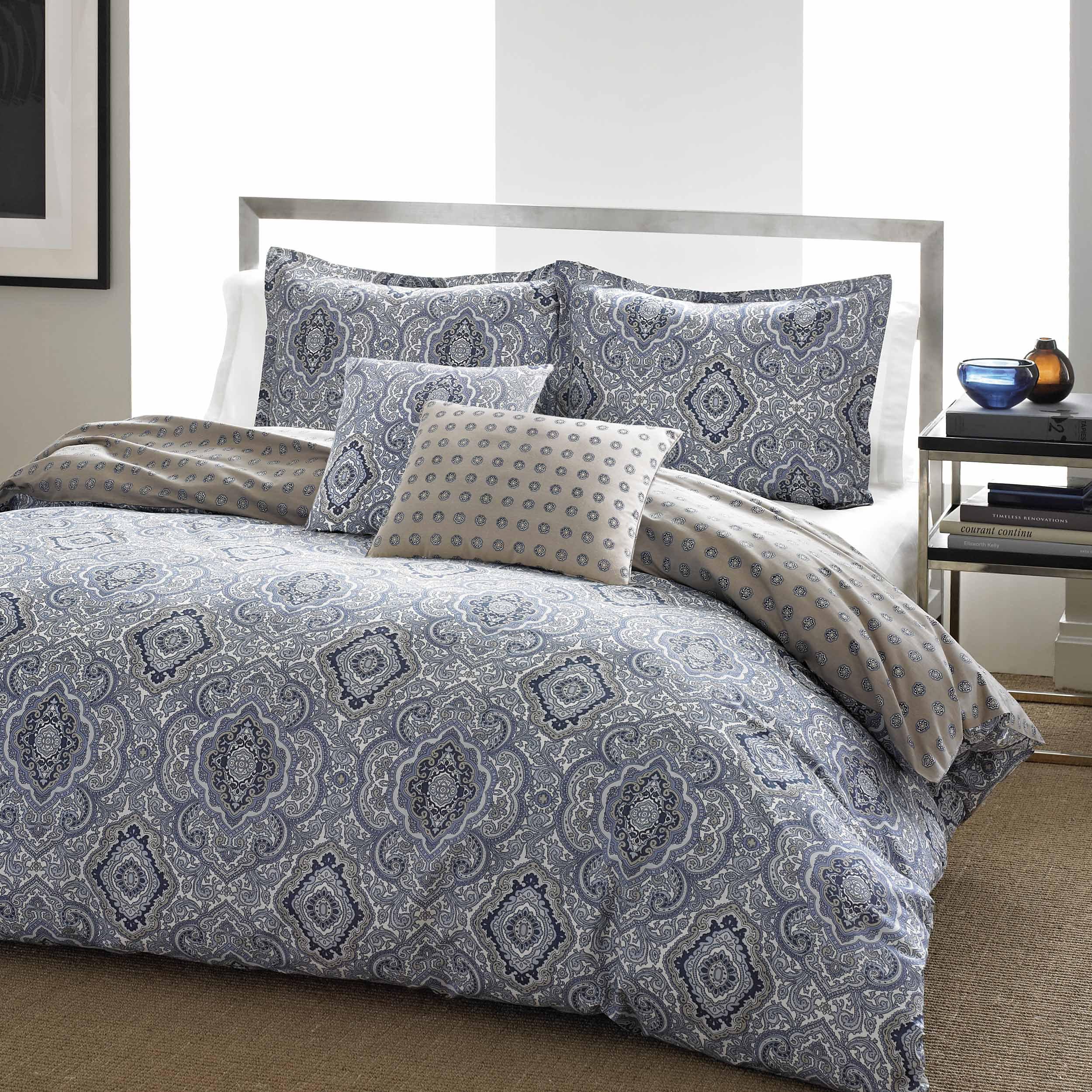 City Scene Milan Blue Comforter Set Full Queen Walmart Com