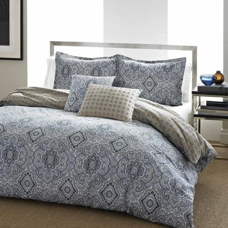Blue Comforter Sets - City Scene Milan Blue Comforter Set, Full/Queen
