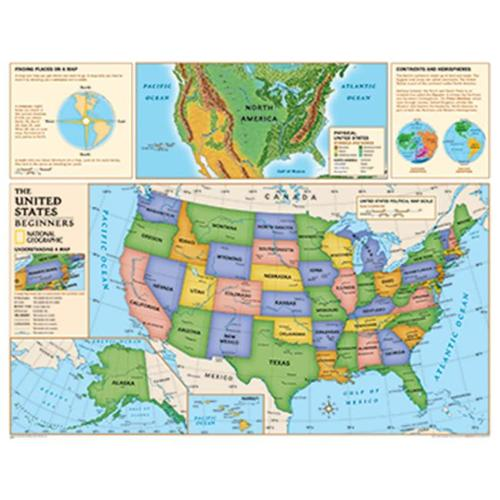 National Geographic Maps NGMRE01020560 Beginners United States Map