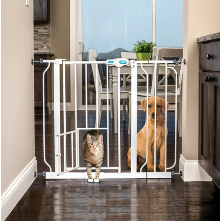 Carlson Extra Wide Pet Gate with Small Pet Door (Carlson Extra Wide Gate With Small Pet Door)