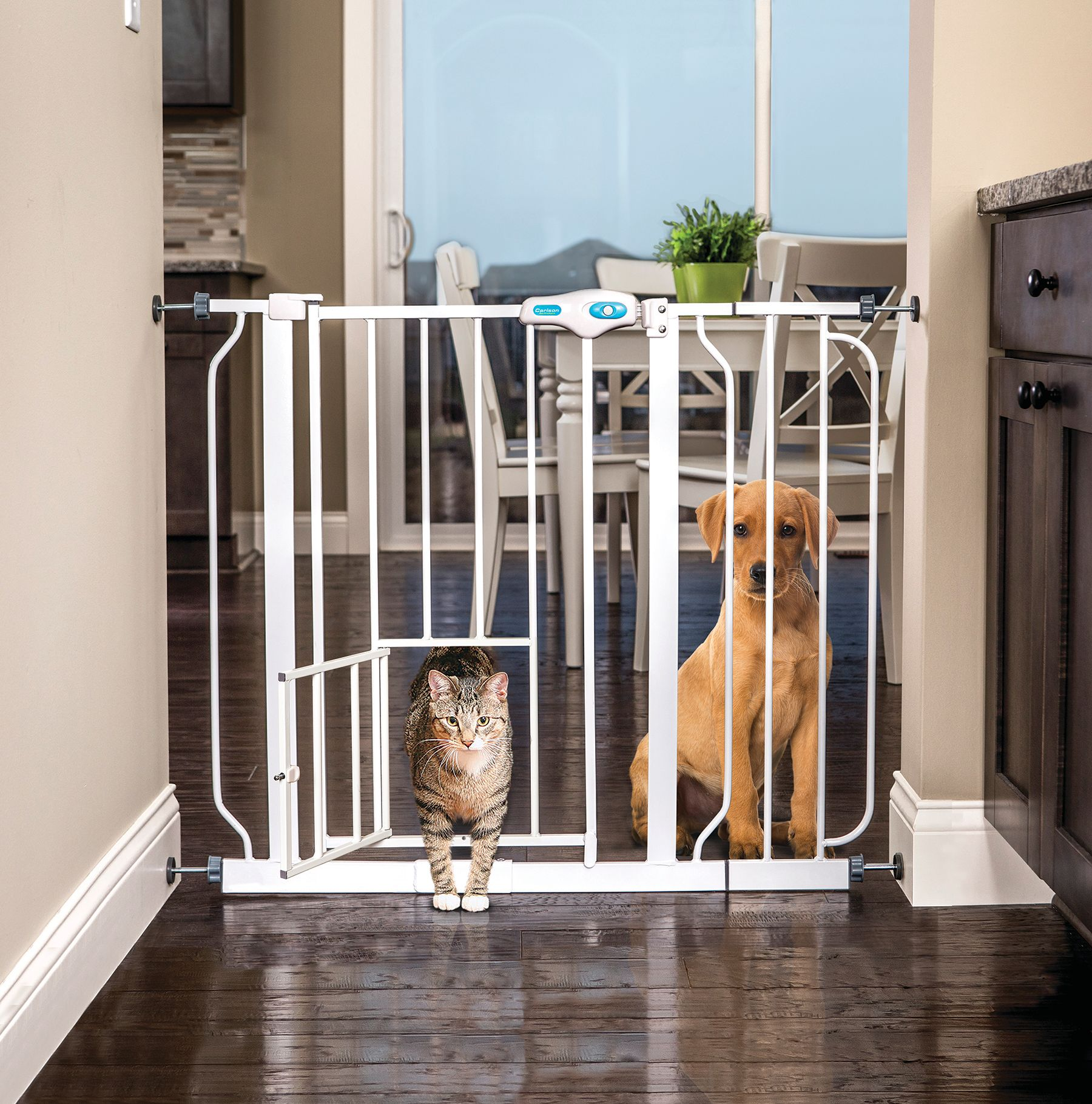 Superbe Product Image Carlson Extra Wide Pet Gate With Small Pet Door