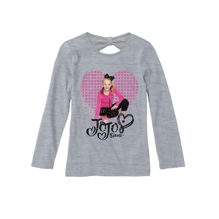 - JoJo Heart Graphic Long Sleeve T-Shirt (Little Girls & Big Girls)