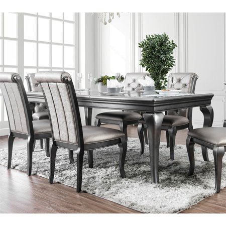 Furniture of America Sante Extendable Dining Table in Gray ()