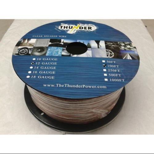 Avox SC12100 Clear Speaker Wire 12ga 100ft