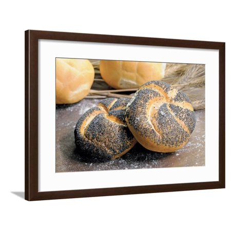 Bread with Poppy Seed Framed Print Wall Art
