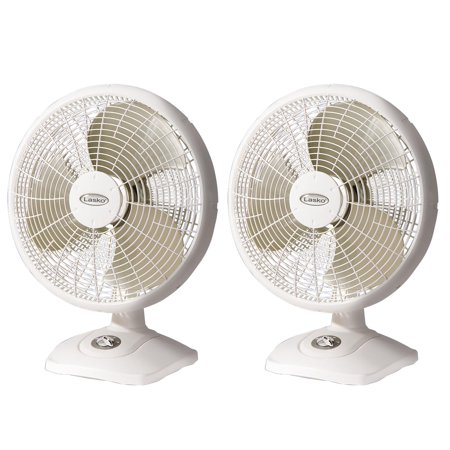 3 Speed Oscillating Table - Lasko 16 Inch Performance 3 Speed Portable Oscillating Table Fan, White (2 Pack)