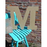 Craft Wooden Letter 6'' M, Unfinished Wood Wall Letter, Rockwell