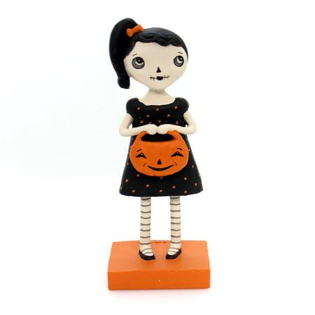 Halloween SKULLY GIRL Polyresin Jenene Mortimer 75024 (Skully Halloween)