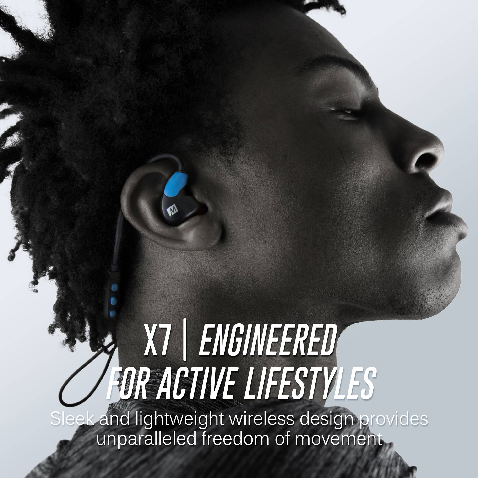 4b7c4471fd9 MEE audio X7 Stereo Bluetooth Wireless Sports In-Ear Headphones, Blue -  Walmart.com