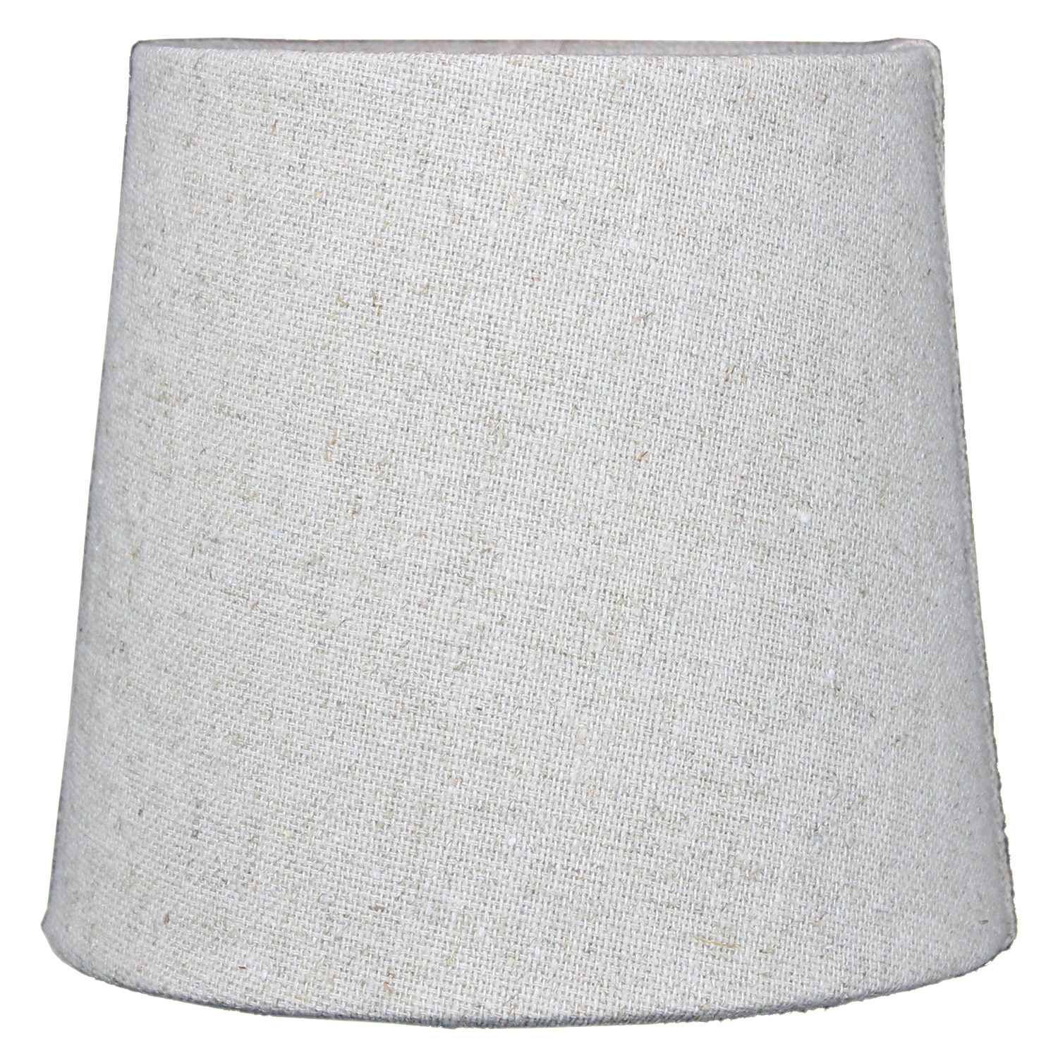 5x6x5 Khaki Burlap Drum Chandelier Clip-On Lampshade