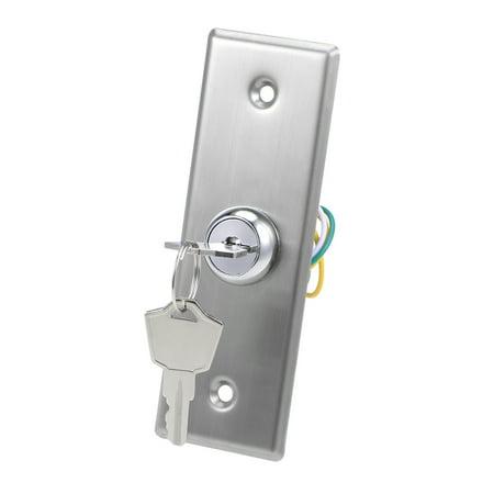 Key Switch On Off Exit Door Lock Emergency Door Release DPST for Access Control w 2 Keys