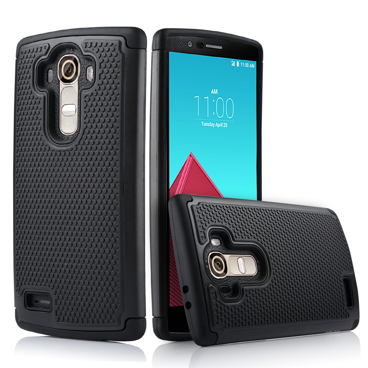 LG G4 Case, ULAK LG G4 Case Shock-Absorption Hybrid Dual Layer [Rigid Plastic + Soft Silicone] Rugged Rubber Matte Hard Protective Case Cover for LG G4