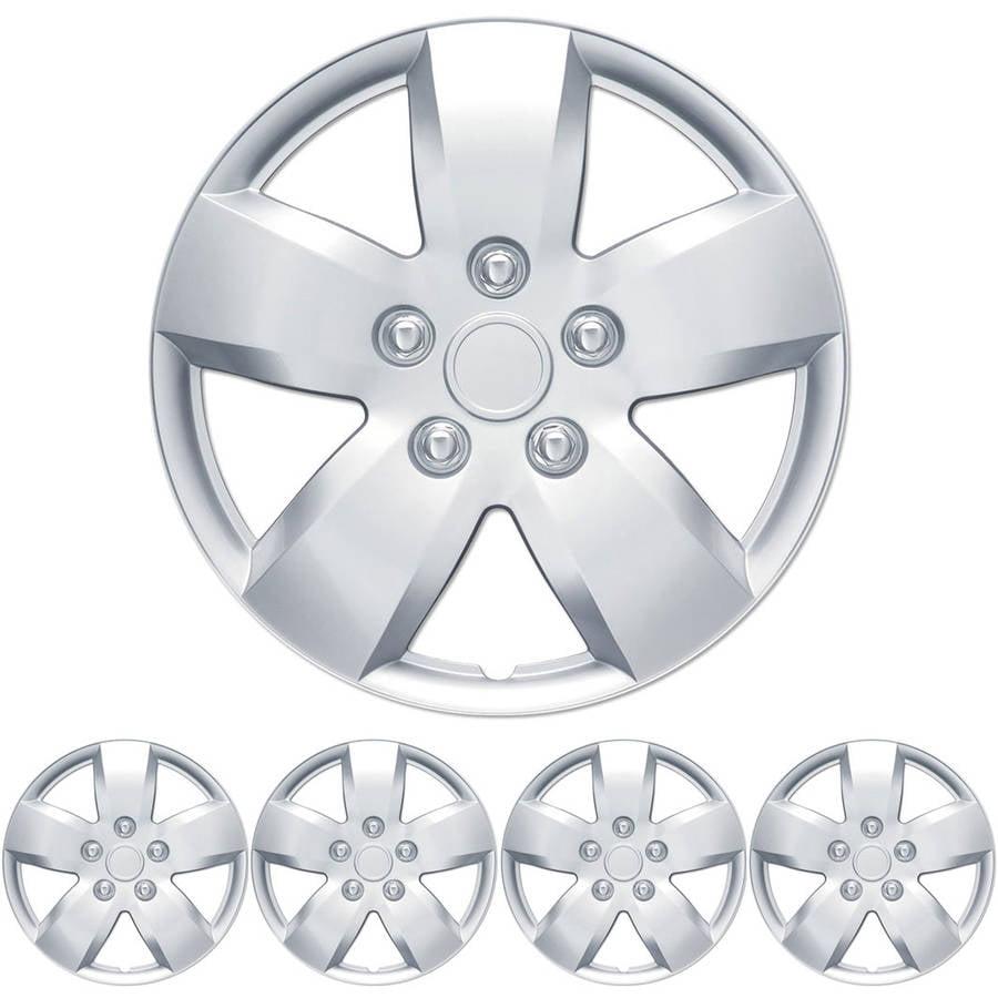 """BDK Nissa Altima Style Hubcaps Wheel Cover, 16"""" Silver Replica Cover, 4 Pieces"""