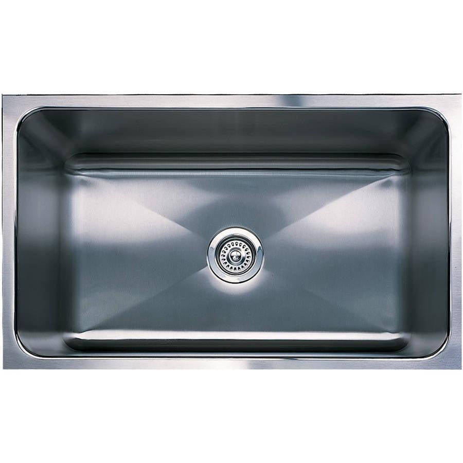 Magnum Undermount Stainless Steel 18 in. 0-Hole Single Bowl Kitchen Sink