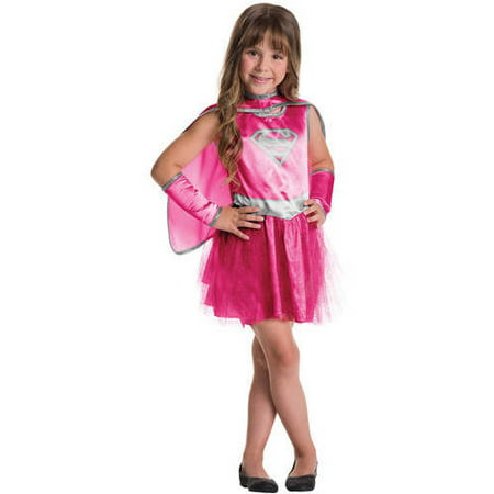 Supergirl Pink Child Tutu Dress Halloween Costume](Supergirl Tutu Costume)