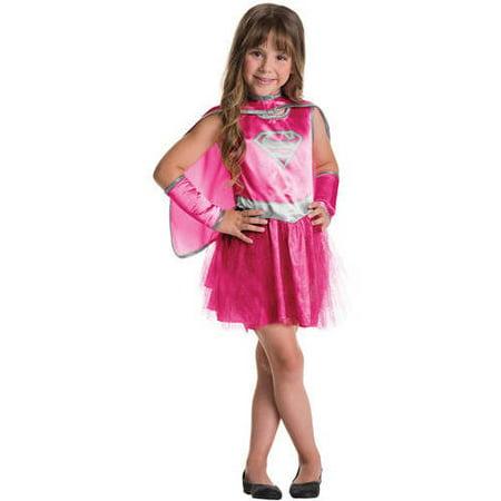 Supergirl Pink Child Tutu Dress Halloween Costume](Supergirl Tutu Costume)