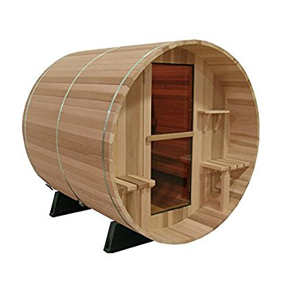OutdoorA Almost Heaven Saunas Vienna Canopy Barrel Sauna (2 person) [Istilo282033] by