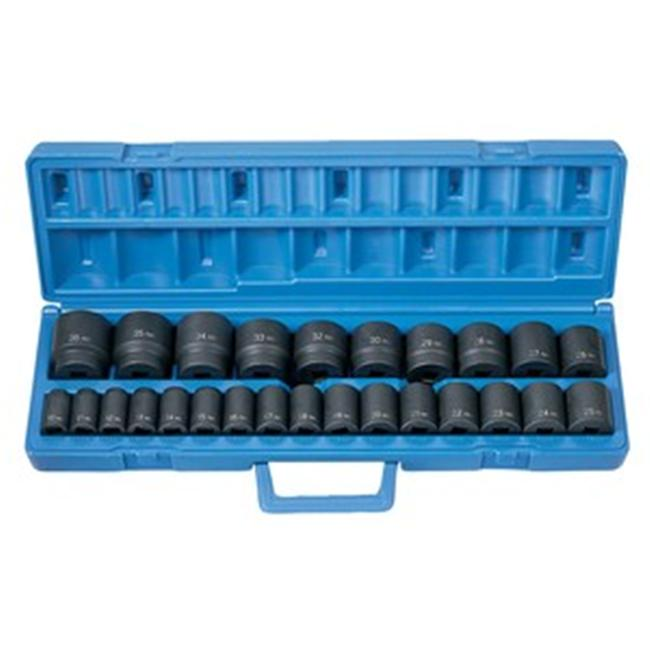 Grey Pneumatic GY1326M 1/2 Inch Drive 26 Pieces Standard Lenght Metric Master Set