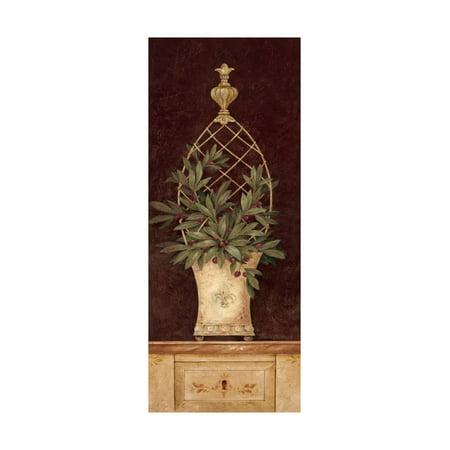 Olive Topiary I Print Wall Art By Pamela Gladding