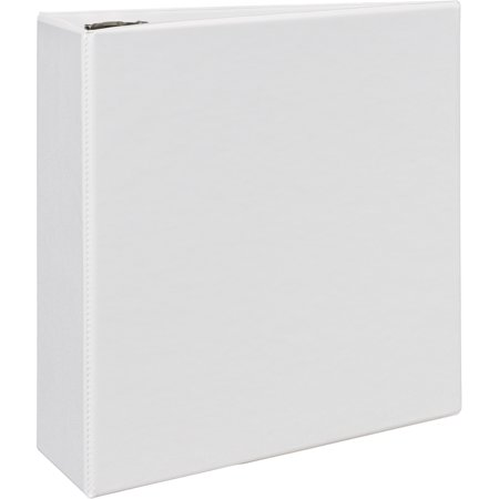 Avery Durable View Binder W Nonlocking Ezd Rings  11 X 8 1 2  4   Cap  White