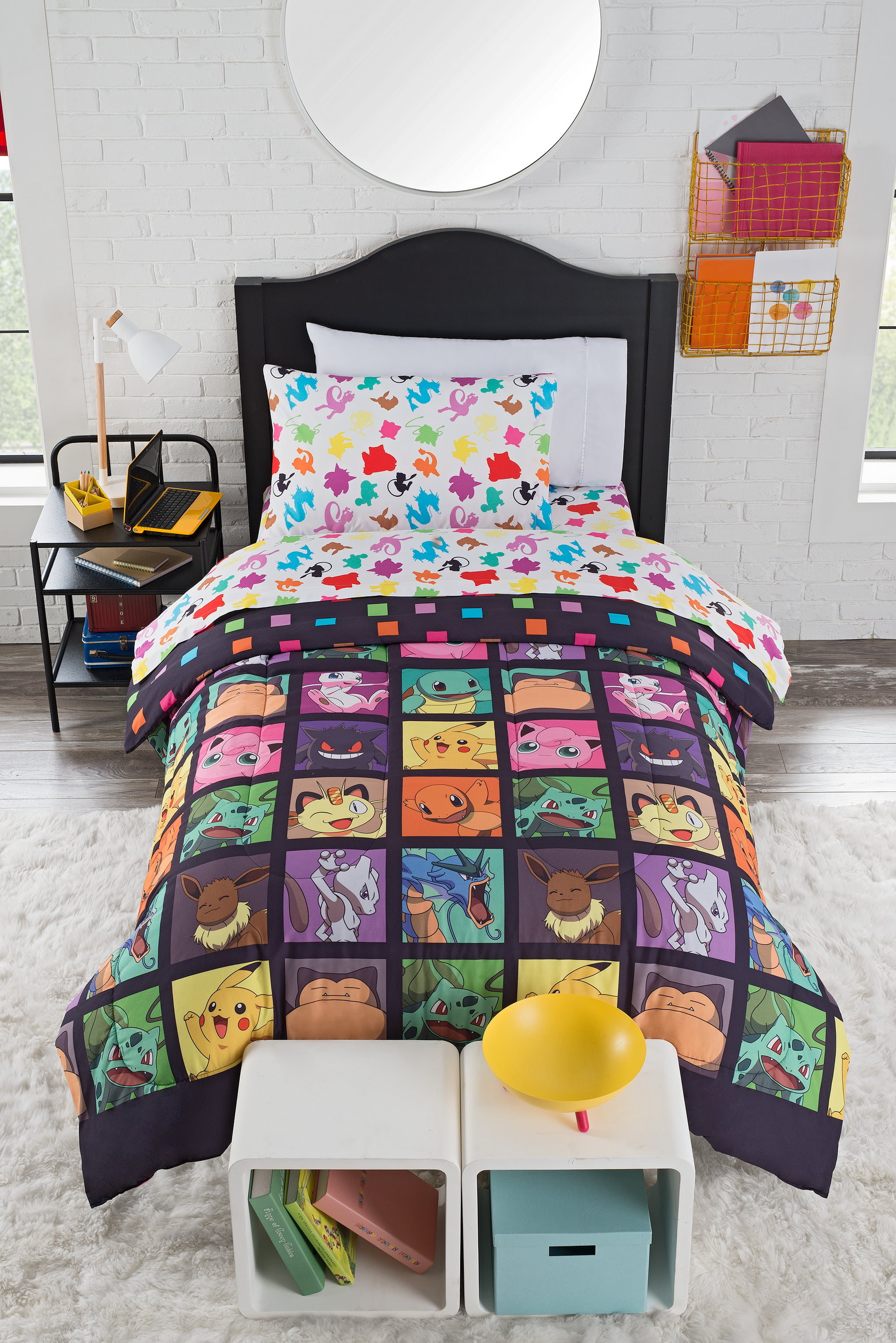 Home Kids Rooms Bedding Comforters This Pokemon Kanto Favorites Twin Bed In Bag Set By The Northwest Company Is Perfect Way To Show