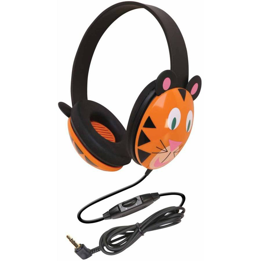 Califone, Listening First Stereo Headphones, Tiger Design