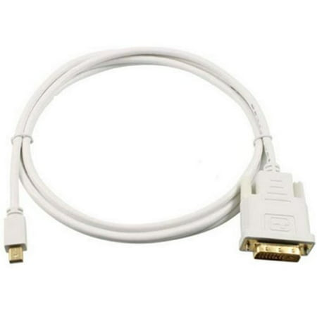6 Feet Mini Display Port to DVI Male Gold Plated Adapter Cable (Mini Dvi Cables)