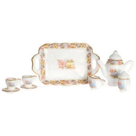 Dollhouse Tea - Dollhouse Tea Set 10Pc Pink Gold