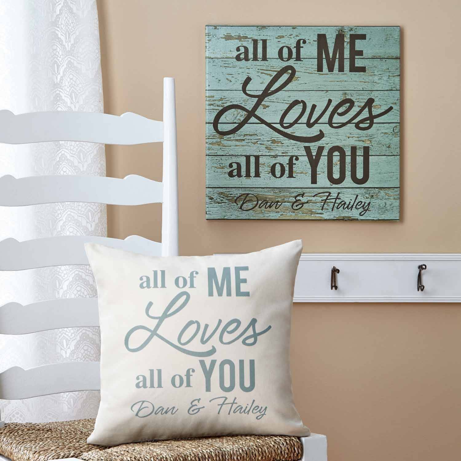 Personalized All of Me Loves All of You Canvas