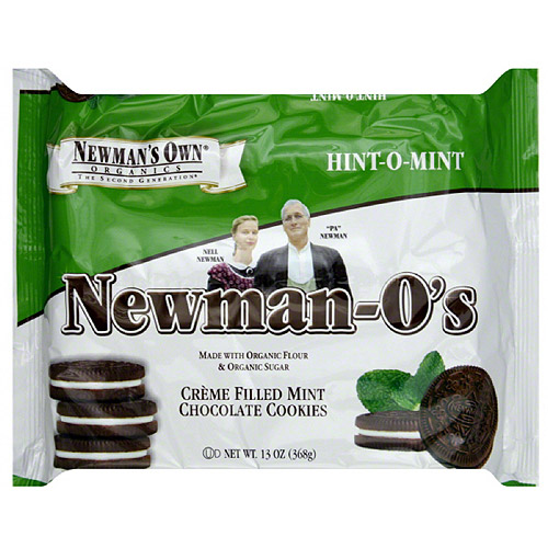 Newman's Own Organics Newman-O's Hint-O-Mint Cookies, 13 oz (Pack of 6)