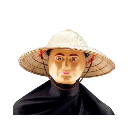 Adult Chinese Straw Bell Shape Hat Costume Accessory