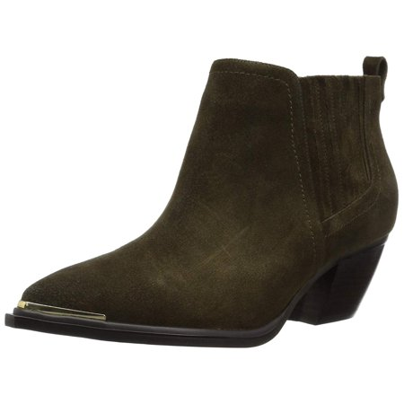 Sbicca Womens Cardinal Leather Closed Toe Ankle Fashion Boots, Khaki, Size 6.0