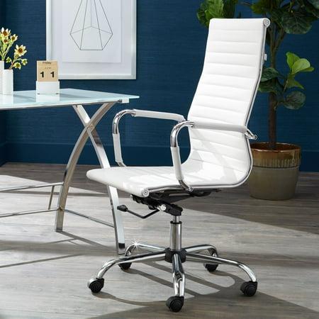 Studio 55D Serge White High Back Swivel Office Chair