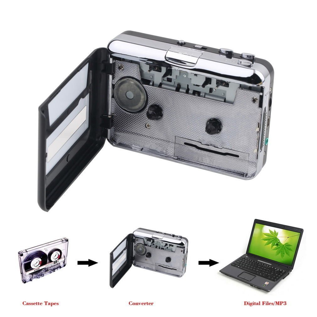 Wisedeal Ezcap Portable Tapes to MP3 Music USB Cassette A...