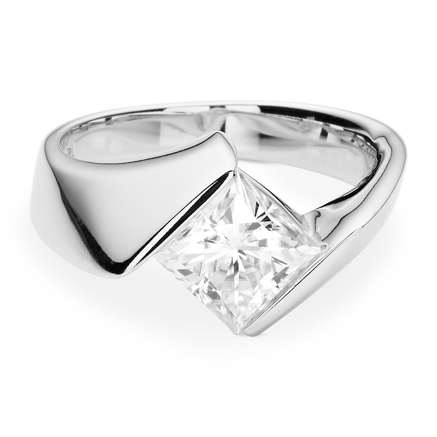 Details about  /1.50Ct Brilliant Round Cut White Moissanite Halo Engagement Ring 14K White Gold
