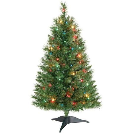 Winston Christmas Skin.Holiday Time 3 Pre Lit Multi Color Winston Pine Christmas Tree