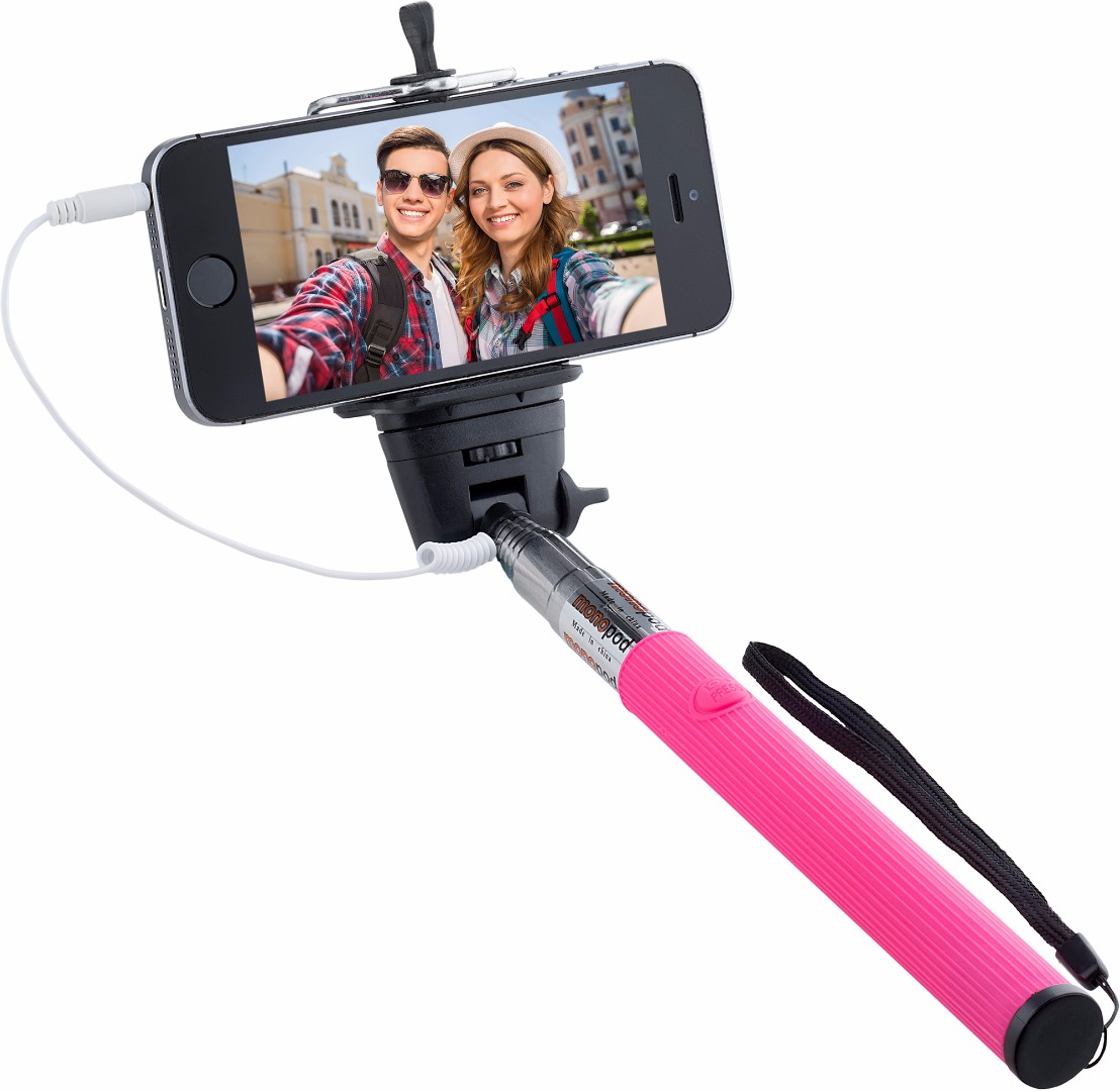 Knox Gear Wired Selfie Stick (Pink)