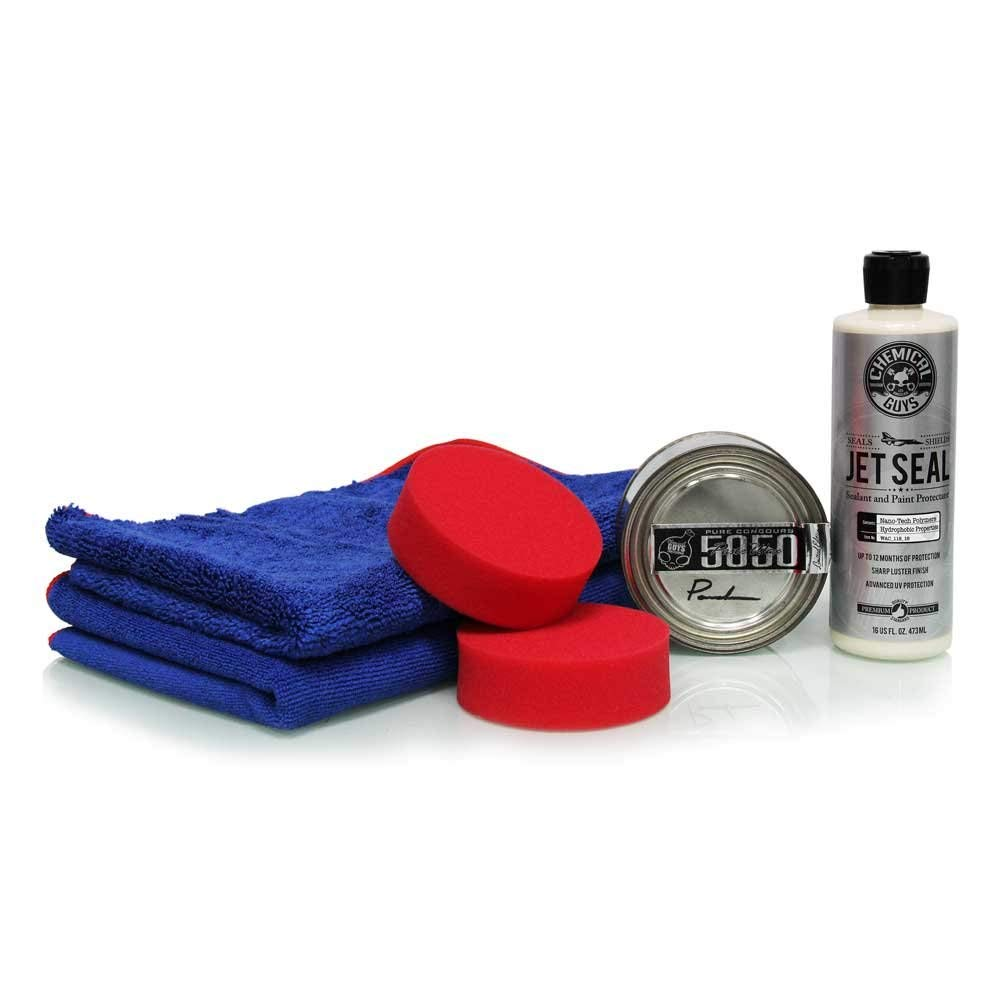 Chemical Guys HOL_101 JetSeal 109 and 5050 Paste Wax Ultimate Shine and Protection Kit (6 Items)