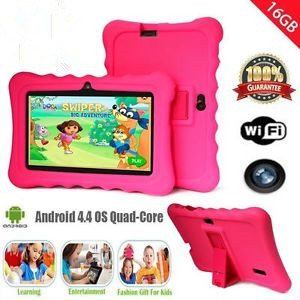 7 Inch Professional Kids Children Tablet For Android 4.4 512MB RAM+16GB ROM Early Education Learning Tablet Best Gifts