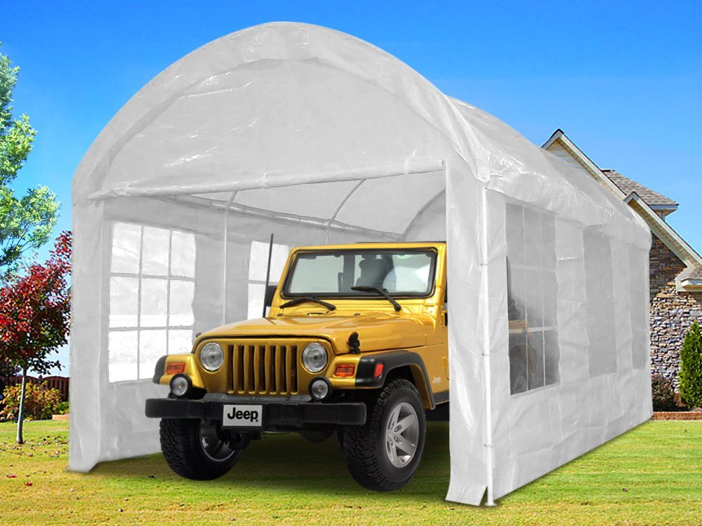 Quictent 20x10 Heavy Duty Portable Carport Canopy Garage Car Shelter Party Tent White by