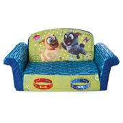 Marshmallow Furniture 2-in-1 Flip Open Couch Bed Furniture, Disney Puppy Dog Pal