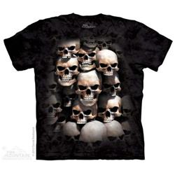 Mountain 8060013 Skull Crypt Mens T-Shirt, Xtra Large