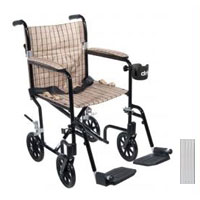 Drive Medical 17 Inches Deluxe Fly-Weight Aluminum Transport Wheelchair - 1 Ea, Fw17Sl