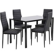 Dining Table Set Dining Room Table Set Dinner Table Dinette Sets for Small Spaces Dinning Table with Chairs Set of 4 Kitchen Dining Table Set for Breakroom Home Furniture Rectangular Modern Leisure